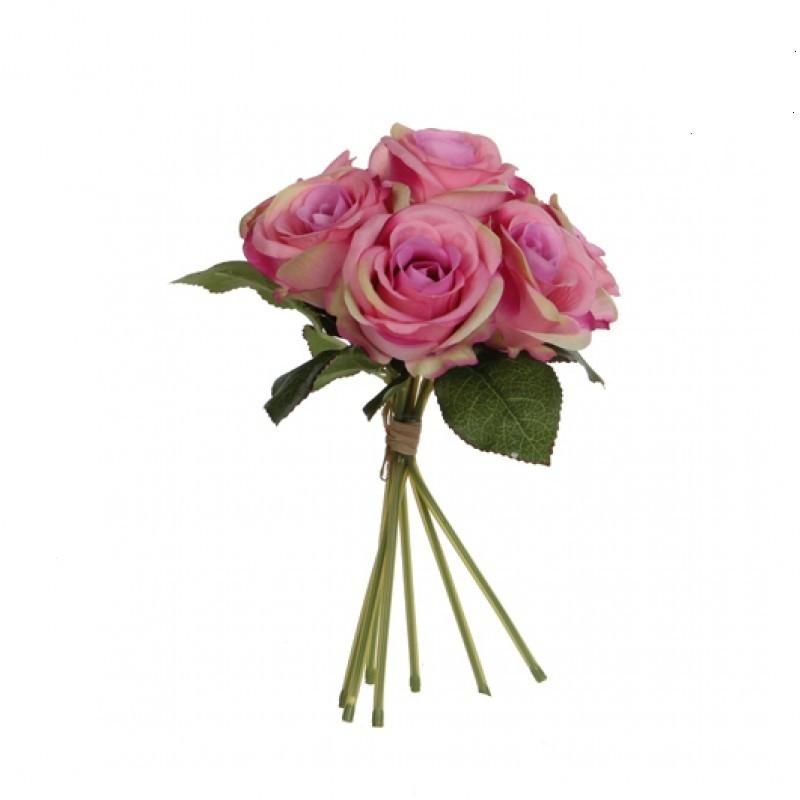 Buchet trandafiri artificiali 28 cm