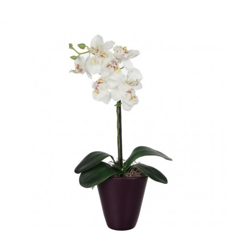 Orhidee artificiala in ghiveci H 35 cm
