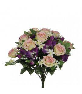Flori artificiale in buchet Rose Anemone Violet