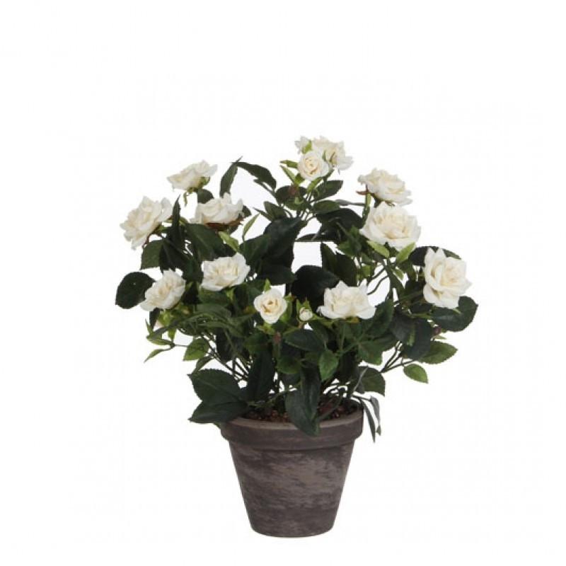 Trandafiri artificiali in ghiveci H33 D25