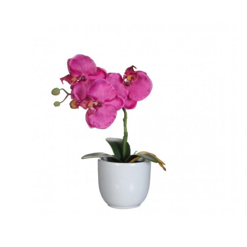 Orhidee artificiala in ghiveci H 26 cm