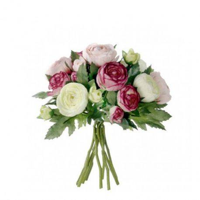 Buchet flori artificiale Renocule 22 cm Pink