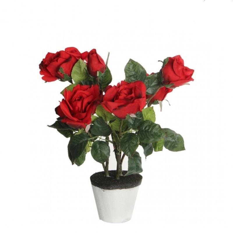 Trandafiri artificiali in ghiveci H40 Red