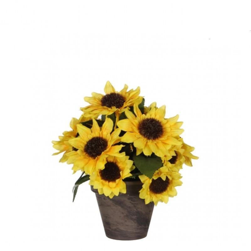 Floarea soarelui artificiala in ghiveci