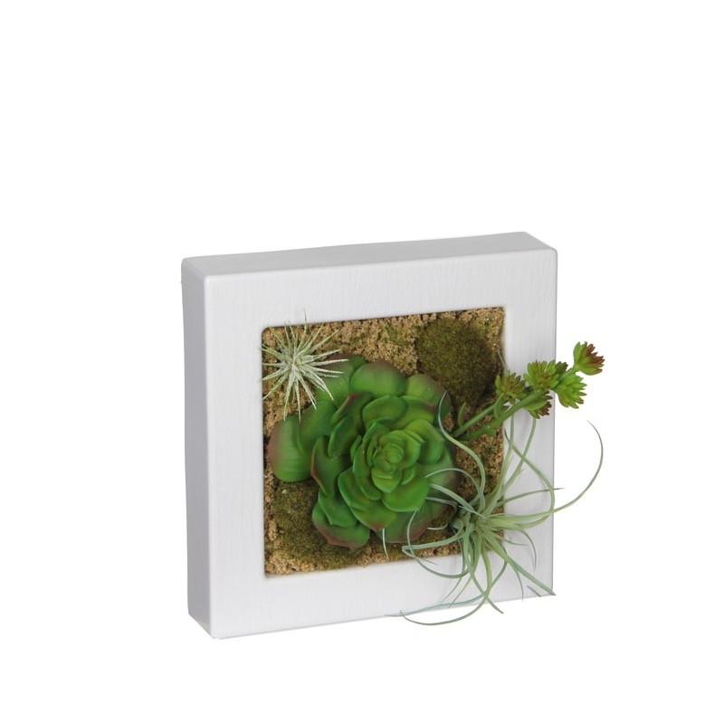 Tablou cu plante artificiale