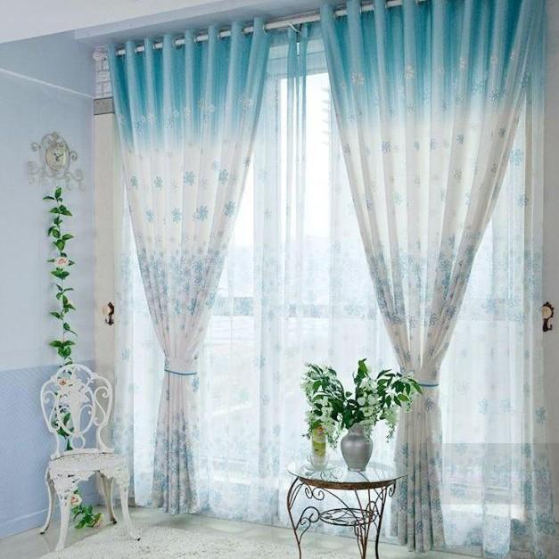 Modele de perdele si draperii pentru o locuinta pe gustul tau for White and blue bedroom curtains