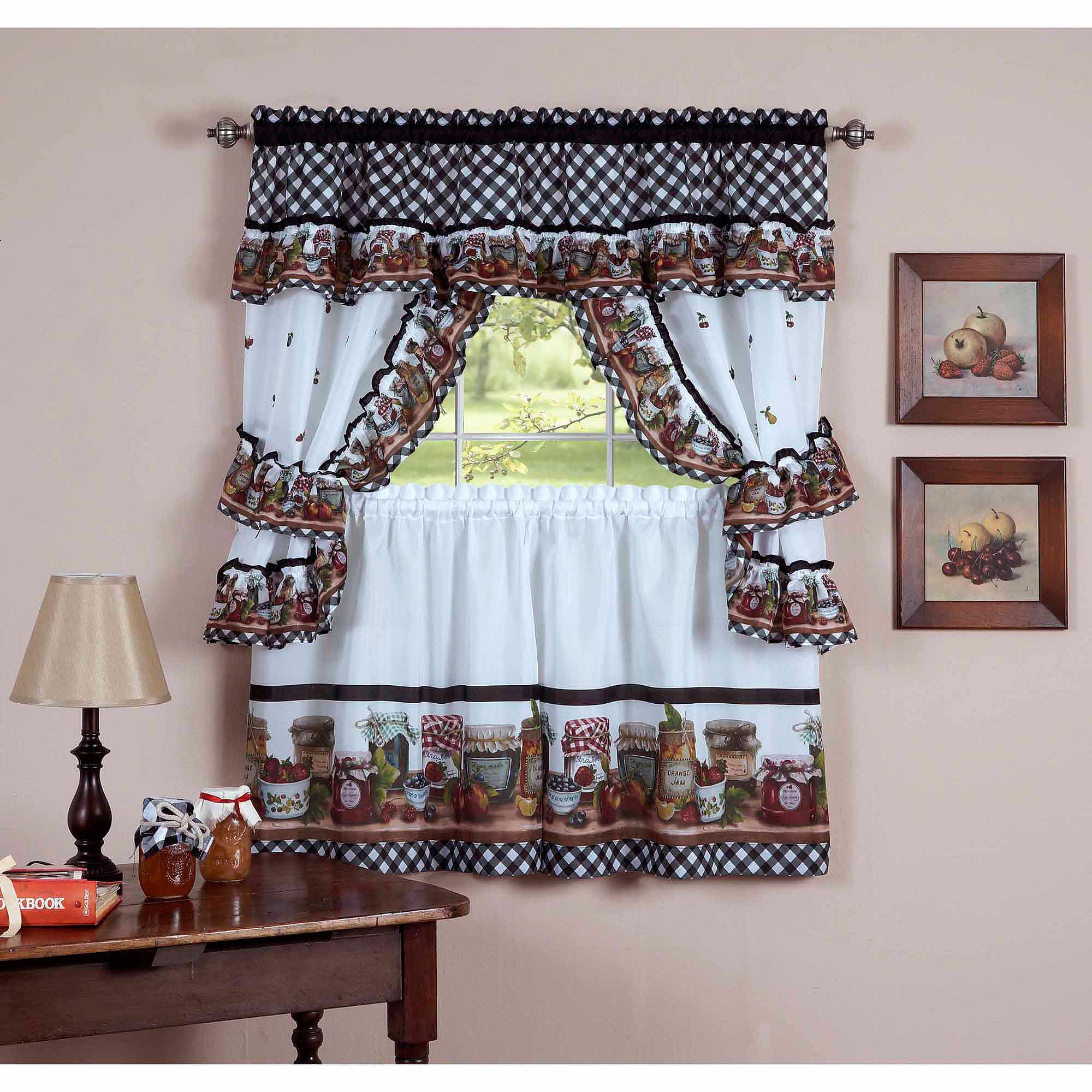 Home Decorators Online Coupon: Kitchen-curtains-walmart-com-cottage-set-mason-jars